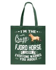 CRAZY FJORD HORSE LADY Tote Bag thumbnail
