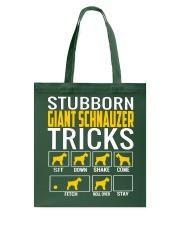 Stubborn Giant Schnauzer Tricks Tote Bag thumbnail