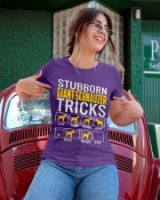 Stubborn Giant Schnauzer Tricks Ladies T-Shirt apparel-ladies-t-shirt-lifestyle-01