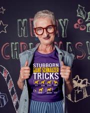Stubborn Giant Schnauzer Tricks Ladies T-Shirt lifestyle-holiday-crewneck-front-3