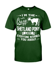 CRAZY SHETLAND PONY LADY Classic T-Shirt thumbnail