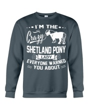 CRAZY SHETLAND PONY LADY Crewneck Sweatshirt thumbnail
