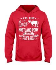 CRAZY SHETLAND PONY LADY Hooded Sweatshirt thumbnail