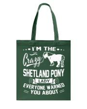 CRAZY SHETLAND PONY LADY Tote Bag thumbnail