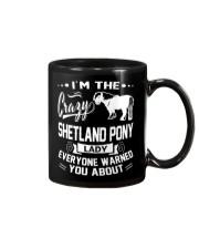 CRAZY SHETLAND PONY LADY Mug thumbnail