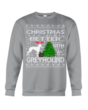 Christmas Is Better With A Greyhound Crewneck Sweatshirt tile
