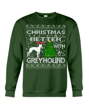 Christmas Is Better With A Greyhound Crewneck Sweatshirt front