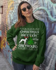 Christmas Is Better With A Greyhound Crewneck Sweatshirt lifestyle-unisex-sweatshirt-front-3