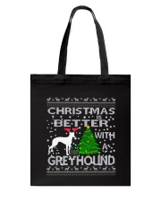 Christmas Is Better With A Greyhound Tote Bag thumbnail