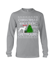 Christmas Is Better With A Greyhound Long Sleeve Tee thumbnail