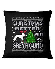 Christmas Is Better With A Greyhound Square Pillowcase thumbnail