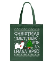 Christmas Is Better With A Lhasa Apso Tote Bag thumbnail