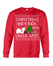 Christmas Is Better With A Lhasa Apso Crewneck Sweatshirt front