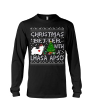 Christmas Is Better With A Lhasa Apso Long Sleeve Tee thumbnail