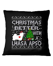 Christmas Is Better With A Lhasa Apso Square Pillowcase thumbnail