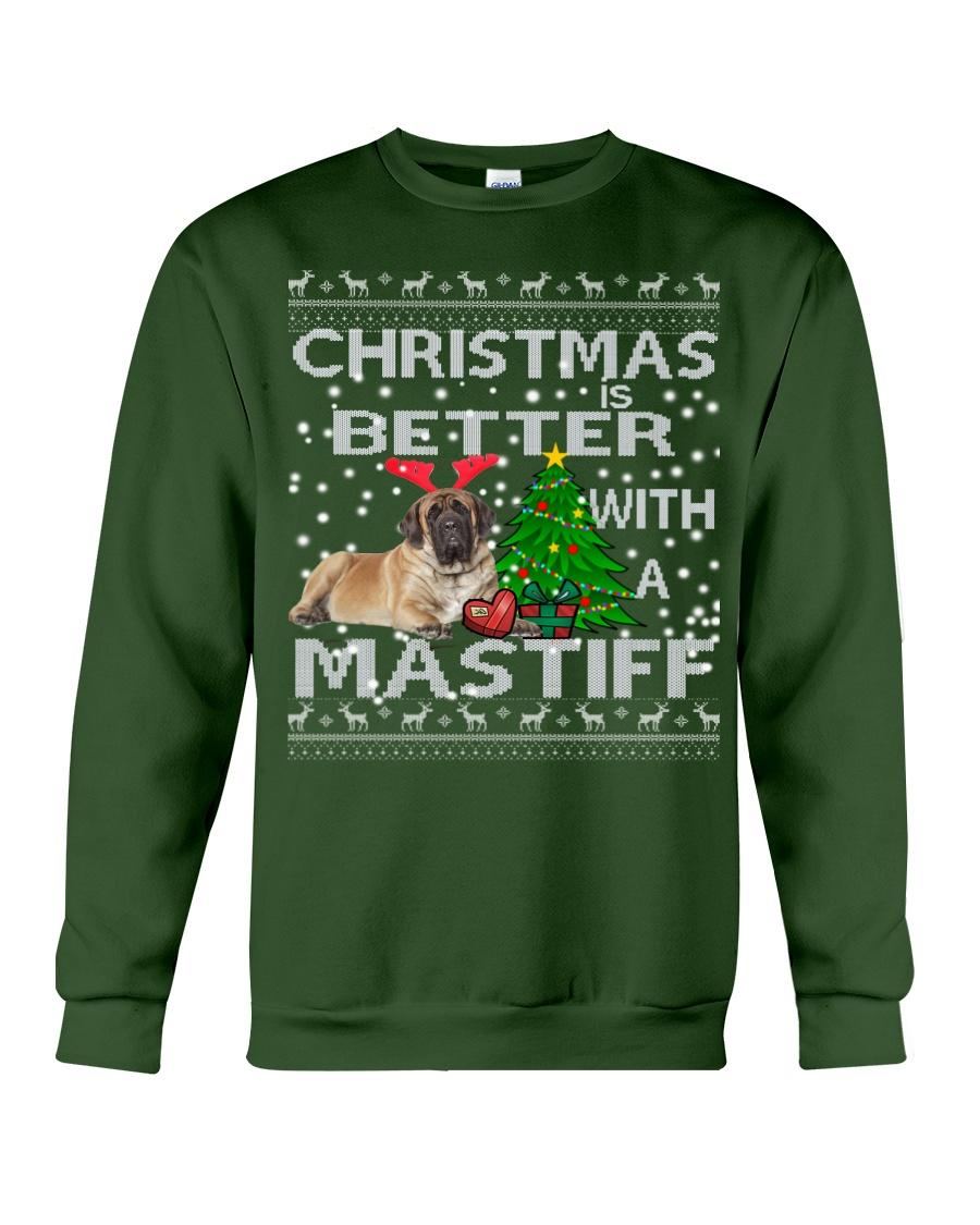 Christmas Is Better WIth A Mastiff Crewneck Sweatshirt