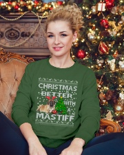 Christmas Is Better WIth A Mastiff Crewneck Sweatshirt lifestyle-holiday-sweater-front-2