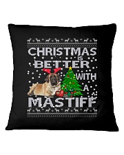 Christmas Is Better WIth A Mastiff Square Pillowcase thumbnail