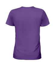 Chocolate Lab Happier Person  Ladies T-Shirt back