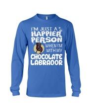 Chocolate Lab Happier Person  Long Sleeve Tee thumbnail