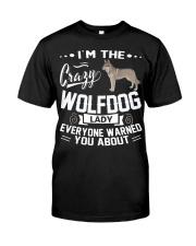CRAZY WOLFDOG LADY Classic T-Shirt thumbnail