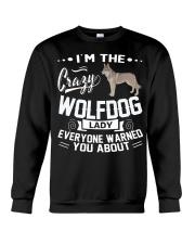 CRAZY WOLFDOG LADY Crewneck Sweatshirt thumbnail