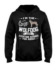 CRAZY WOLFDOG LADY Hooded Sweatshirt thumbnail