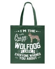 CRAZY WOLFDOG LADY Tote Bag thumbnail