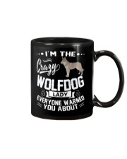 CRAZY WOLFDOG LADY Mug thumbnail