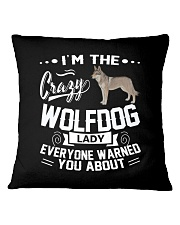 CRAZY WOLFDOG LADY Square Pillowcase thumbnail