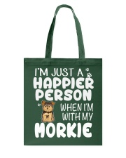 Happier Person Morkie Tote Bag thumbnail