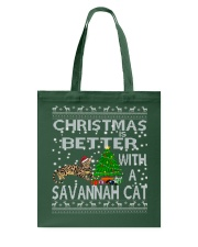 Christmas Is Better With A Savannah cat Tote Bag thumbnail