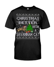 Christmas Is Better With A Savannah cat Classic T-Shirt thumbnail