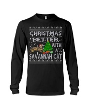 Christmas Is Better With A Savannah cat Long Sleeve Tee thumbnail
