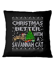 Christmas Is Better With A Savannah cat Square Pillowcase thumbnail