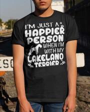 Happier Person Lakeland Terrier Classic T-Shirt apparel-classic-tshirt-lifestyle-29