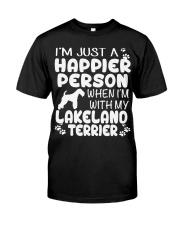 Happier Person Lakeland Terrier Classic T-Shirt front