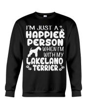 Happier Person Lakeland Terrier Crewneck Sweatshirt thumbnail