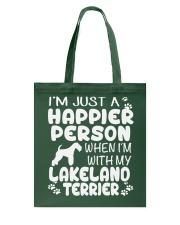 Happier Person Lakeland Terrier Tote Bag thumbnail
