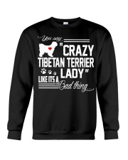 CRAZY TIBETAN TERRIER DOG LADY Crewneck Sweatshirt thumbnail
