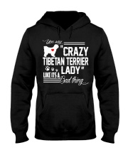 CRAZY TIBETAN TERRIER DOG LADY Hooded Sweatshirt thumbnail