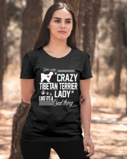 CRAZY TIBETAN TERRIER DOG LADY Ladies T-Shirt apparel-ladies-t-shirt-lifestyle-05
