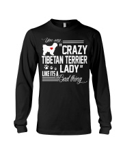 CRAZY TIBETAN TERRIER DOG LADY Long Sleeve Tee thumbnail