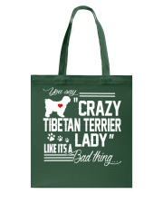 CRAZY TIBETAN TERRIER DOG LADY Tote Bag thumbnail