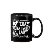 CRAZY TIBETAN TERRIER DOG LADY Mug thumbnail
