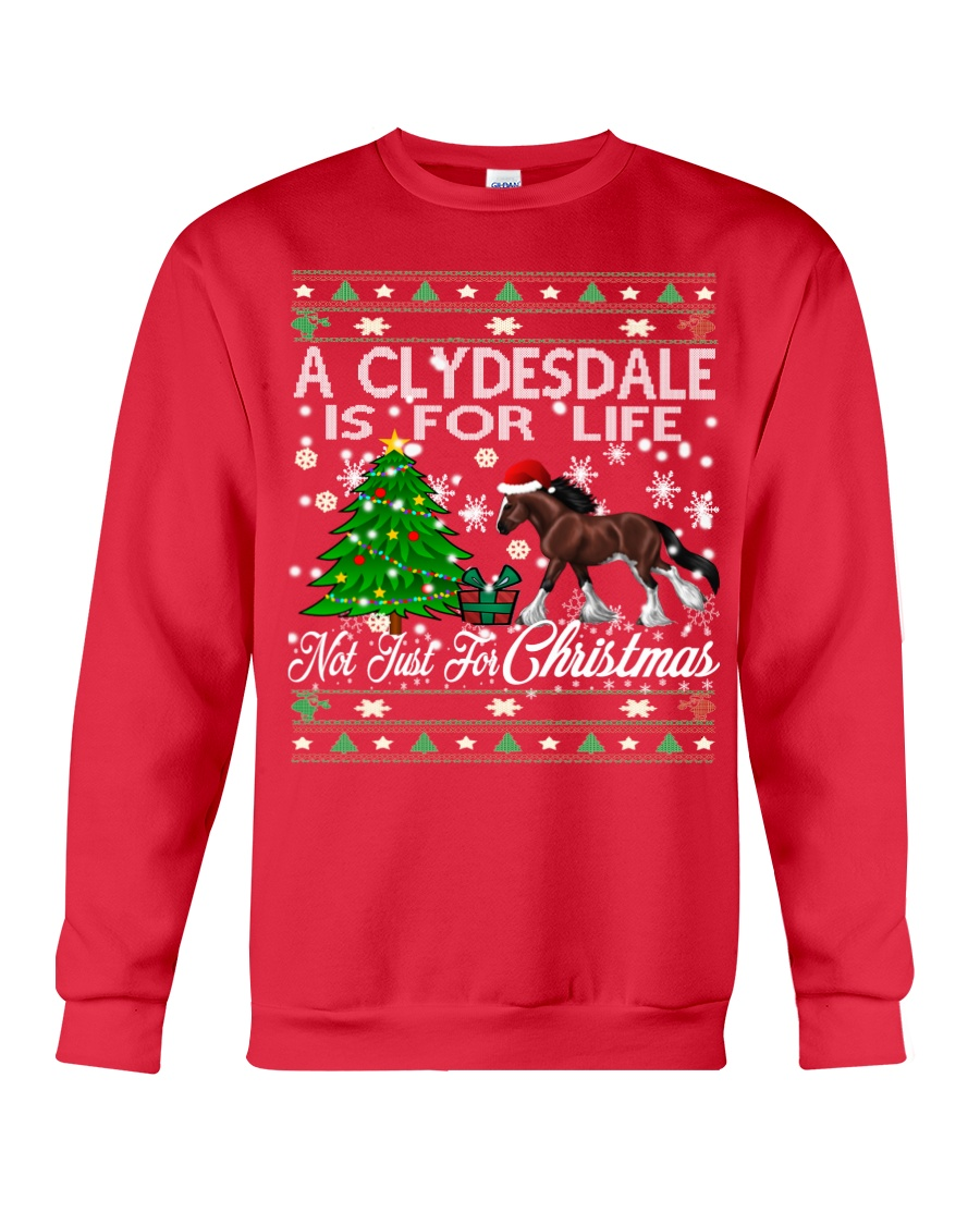 Clydesdale Just For Christmas Crewneck Sweatshirt