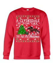 Clydesdale Just For Christmas Crewneck Sweatshirt front