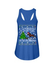 Clydesdale Just For Christmas Ladies Flowy Tank thumbnail