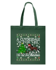Clydesdale Just For Christmas Tote Bag thumbnail