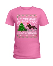 Clydesdale Just For Christmas Ladies T-Shirt thumbnail
